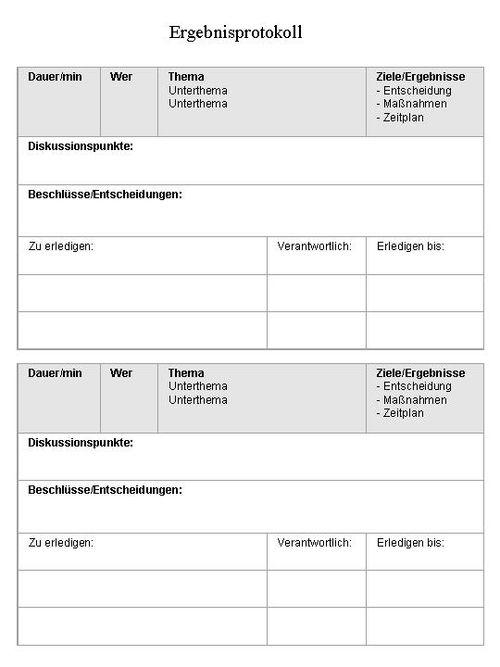 Protokoll Vorlage Muster Protokoll Schreiben Vorlagen Muster